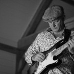 Songwriter & guitarist Richard Townend playing electric guitar